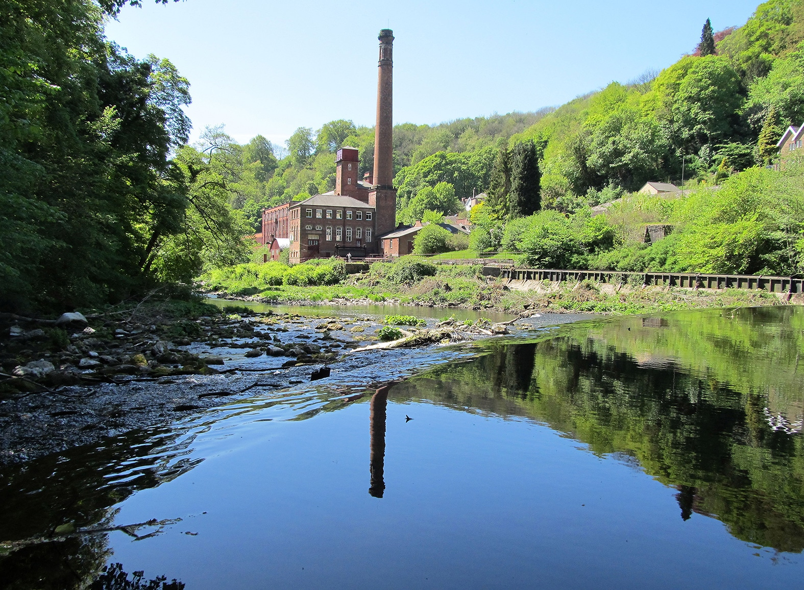 Masson Mills from the river